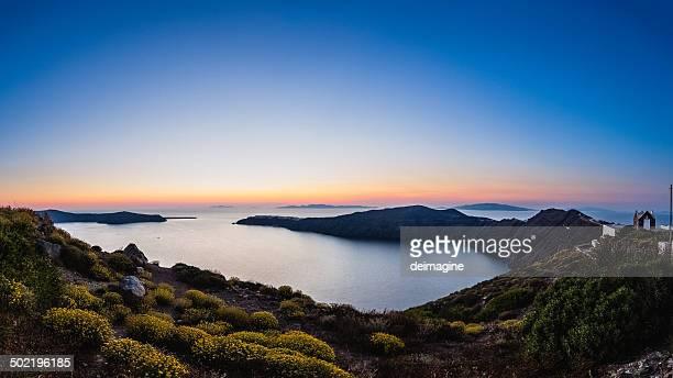 Santorin vue panoramique