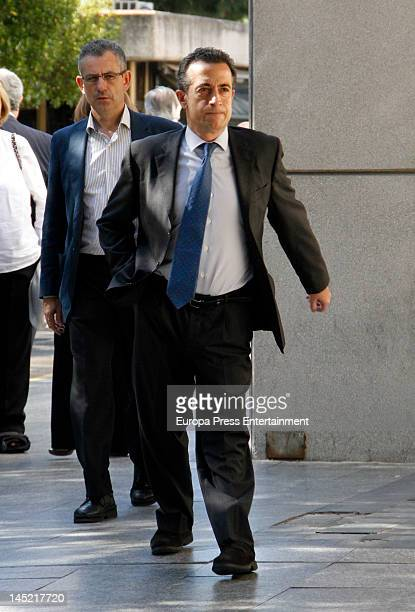 JJ Santos attends the funeral of president of Real Madrid Florentino Perez's wife Pitina Sandoval at La Almudena crematorium on May 23 2012 in Madrid...