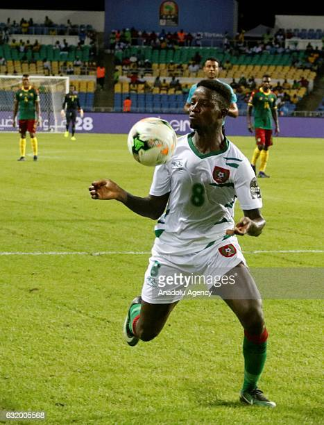 Santos of Guinea Bissau in action during the 2017 Africa Cup of Nations group A football match between Cameroon and Guinea Bissau at the l'Amitié...