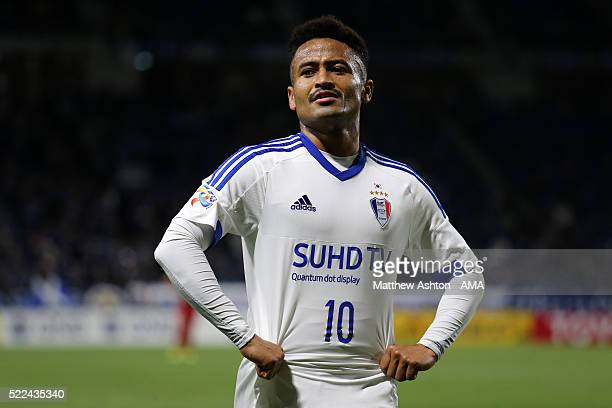 Santos of Suwon Samsung Bluewings during the AFC Champions League Group G match between Gamba Osaka and Suwon Samsung Bluewings at Suita City...