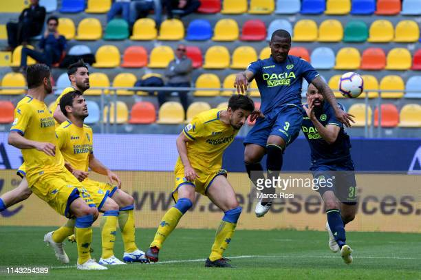 Santos Samir of Udinese scores a second goal during the Serie A match between Frosinone Calcio and Udinese at Stadio Benito Stirpe on May 12 2019 in...