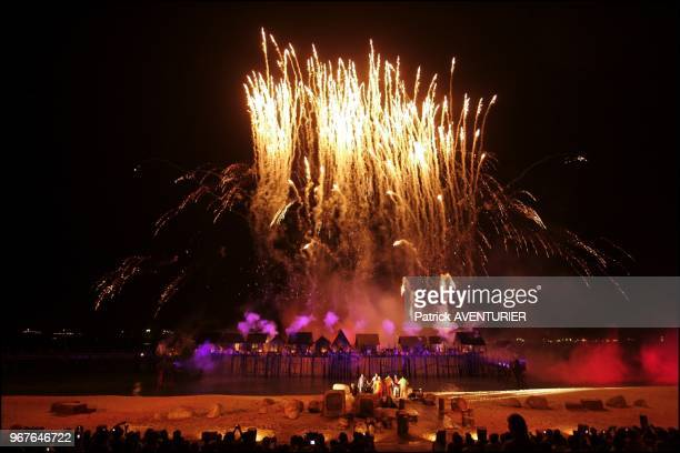 Santosa's Siloso Beach exploded in a dazzling display of pyrotechnics and laser lights in the night as Song of the seathe island's latest...