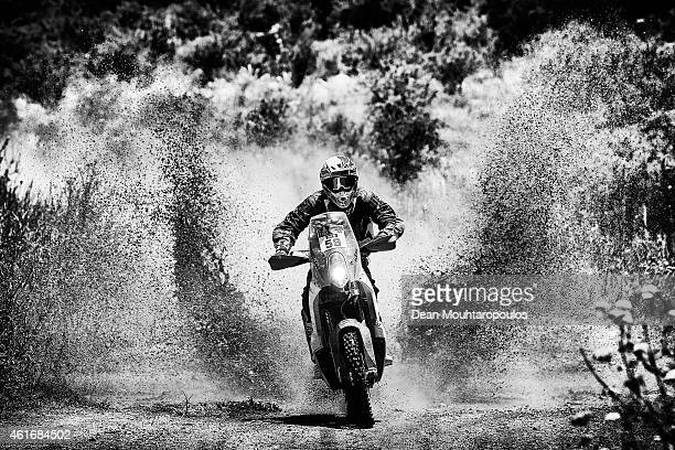Santosh Chunchunguppe Shivashankar better known as CS Santosh for the KTM Rally Factory Team competes during Stage 12 on day 13 of the Dakar Rally...