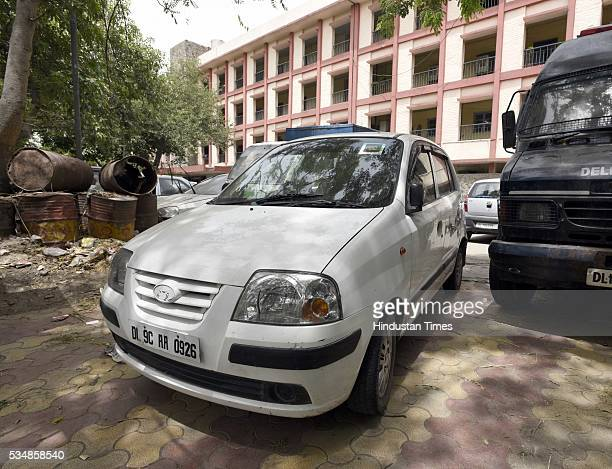 Santro Car used by three accused Sachin Choudhary Shiv kumar and Saurabh who tried to abduct a 19yearold girl arrested by Delhi Police under the...