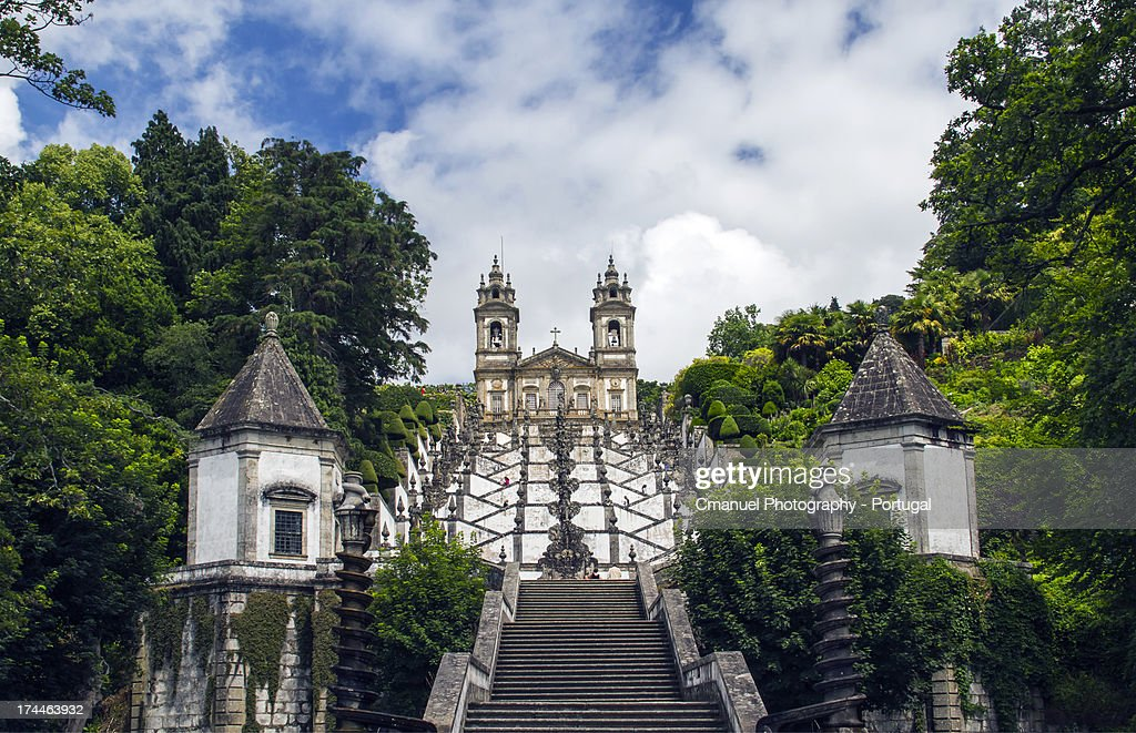 Santuário do Bom Jesus do Monte : Stock Photo