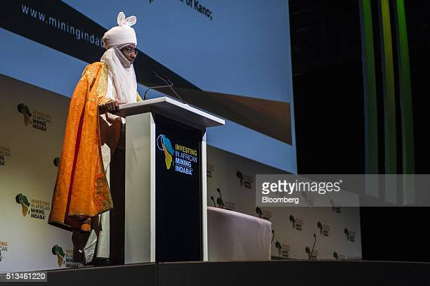 Sanusi Lamido Sanusi also known as Muhammadu Sanusi II emir of Kano and former Nigerian central bank governor speaks on the opening day of the...