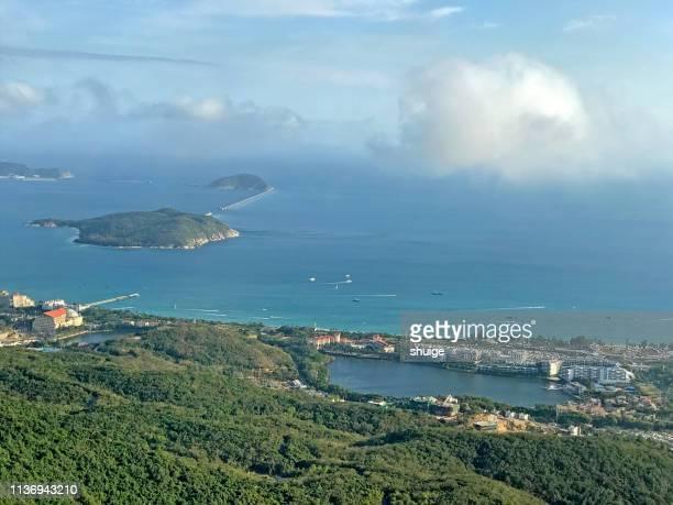 sanya bay - hainan island stock pictures, royalty-free photos & images