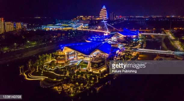 Sanya International Duty Free City lights brightly at night. Haikou city, Hunan Province, China, 2 May 2020. - PHOTOGRAPH BY Costfoto / Barcroft...