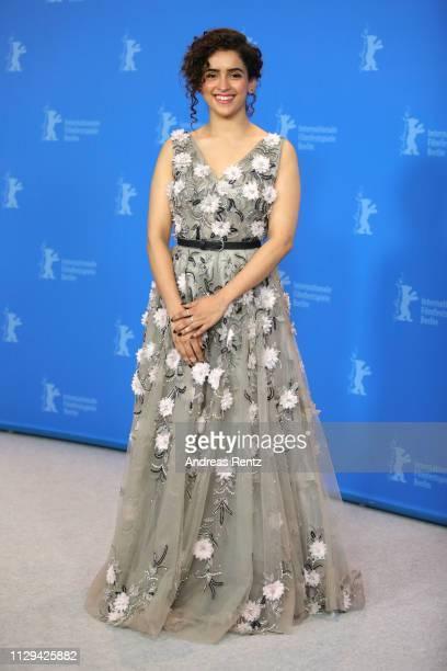 Sanya Malhotra poses at the Photograph photocall during the 69th Berlinale International Film Festival Berlin at Grand Hyatt Hotel on February 13...