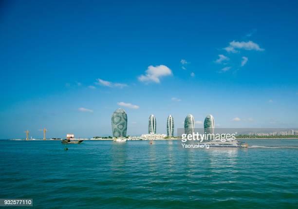 sanya phoenix island president resort apartment, sanya,hainan,china - hainan island stock pictures, royalty-free photos & images