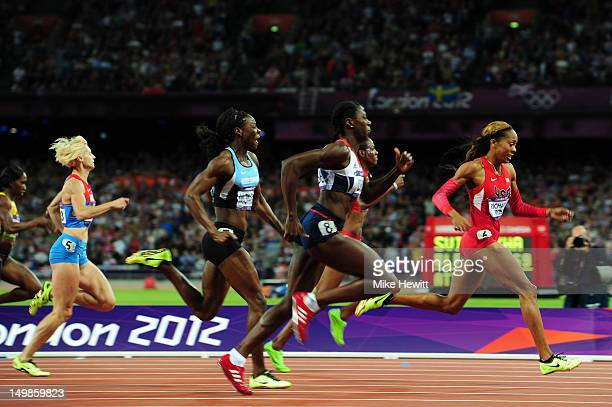 Sanya RichardsRoss of the United States and Christine Ohuruogu of Great Britain compete during the Women's 400m final on Day 9 of the London 2012...