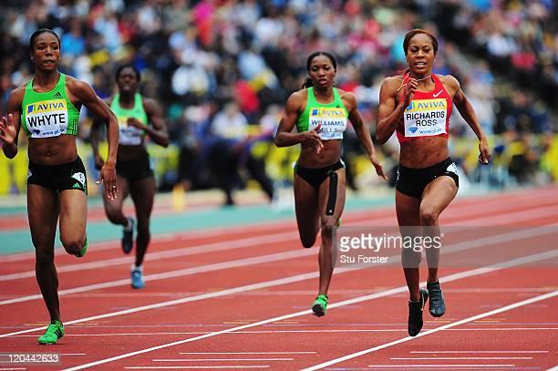 Sanya Richards-Ross of the United States of America, Novlene Williams-Mills of the United States of America, Christine Ohuruogu of Great Britain and...