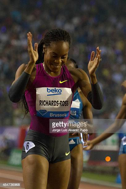 Sanya RichardsRoss of USA celebrates after winning women's the 400M during the AG Insurance Memorial Van Damme as part of the IAFF Diamond League...
