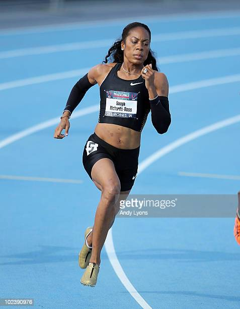 Sanya Richards-Ross runs in the Womens 400 Meter preliminaries during the 2010 USA Outdoor Track & Field Championships at Drake Stadium on June 24,...