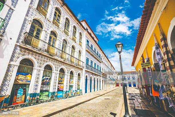 sao luis streets. - maranhao state stock pictures, royalty-free photos & images