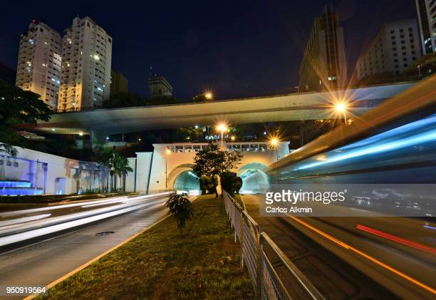 Sao Paulo - 9 de Julho Tunnel and traffic