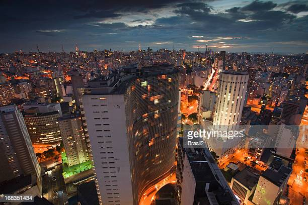 sao paulo at night - são paulo city stock pictures, royalty-free photos & images