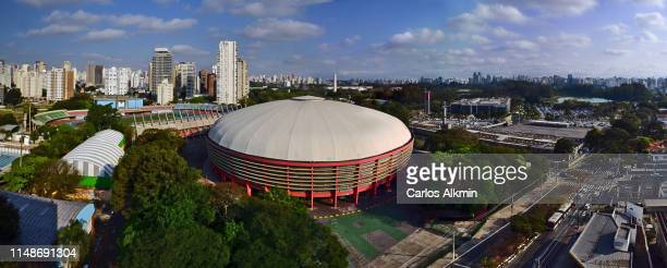 sao paulo, brazil - ibirapuera district panoramic view - carlos alkmin stock pictures, royalty-free photos & images