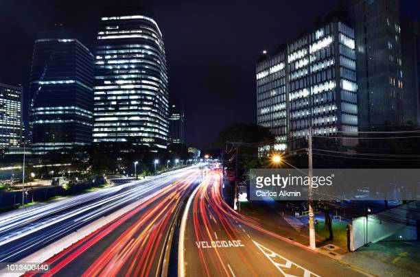 Sao Paulo, Brazil - Night version of a day and night series for President Juscelino Kubitschek Avenue traffic