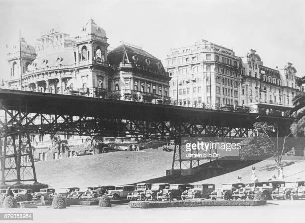 Sao Paulo bridge Keystone View Company Vintage property of ullstein bild