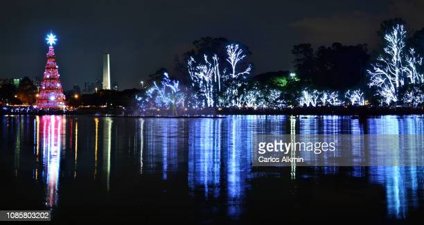 Sao Paulo - Christmas lights festival around Ibirapuera lake