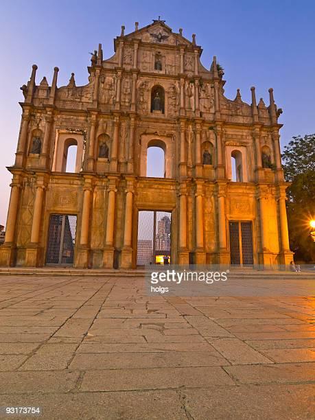 iglesia de san pablo catedral de st paul - macao fotografías e imágenes de stock