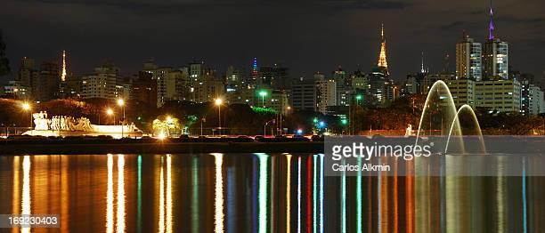 Sao Paulo Lights on Ibirapuera Lake and Paulista