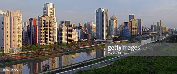 Sao Paulo modern skyline, Brooklin Stayed Bridge
