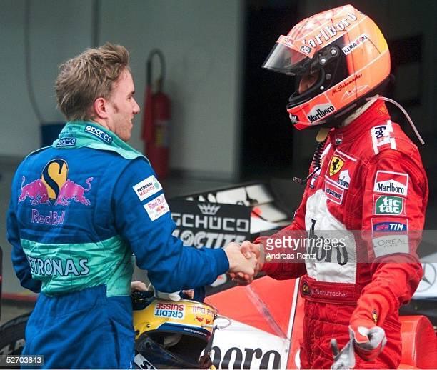 BRASILIEN 2001 Sao Paulo Nick HEIDFELD/GER SAUBER PETRONAS Michael SCHUMACHER/GER FERRARI