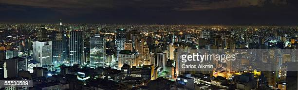 Sao Paulo skyline from Terraco Italia at night