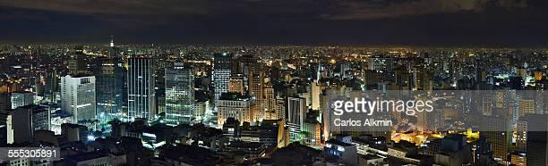 Sao Paulo skyline from Terraco Italia at night