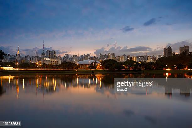 sao paulo skyline - ibirapuera park stock pictures, royalty-free photos & images