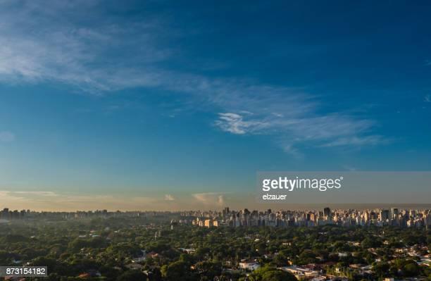 sao paulo skyline. - são paulo stock pictures, royalty-free photos & images