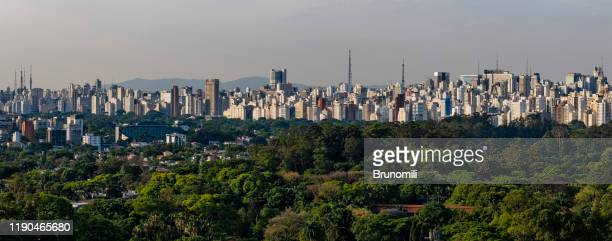 sao paulo slyline panoramic - são paulo city stock pictures, royalty-free photos & images
