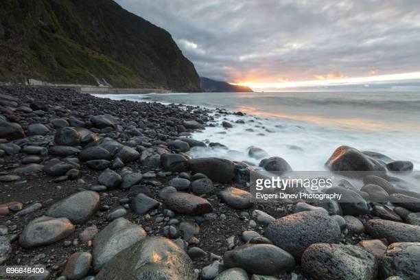 Madeira, Portugal - Juny 2017: Sao Vicente beach