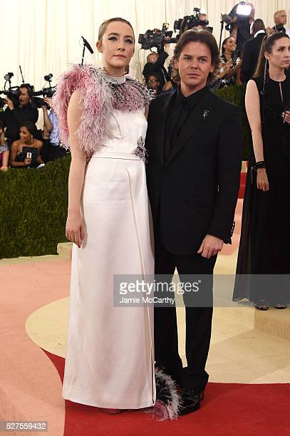 """Saoirse Ronan and Christoper Kane attend the """"Manus x Machina: Fashion In An Age Of Technology"""" Costume Institute Gala at Metropolitan Museum of Art..."""