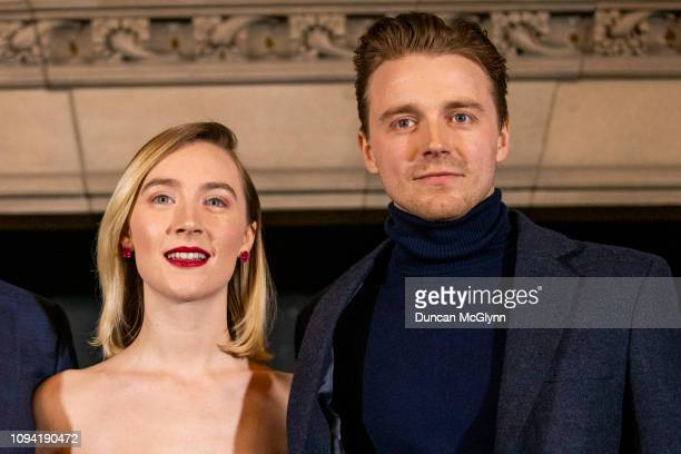 Saoirse Ronan and Jack Lowden attend Scotland's Premiere of Mary Queen of Scots on January 14 2019 in Edinburgh Scotland