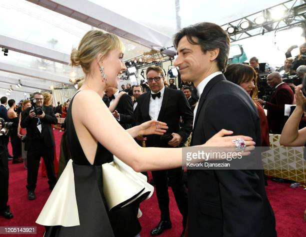 Saoirse Ronan and Noah Baumbach attend the 92nd Annual Academy Awards at Hollywood and Highland on February 09, 2020 in Hollywood, California.
