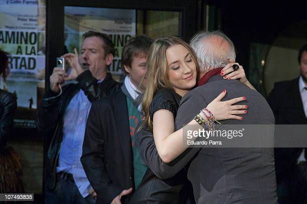 Saoirse Ronan and Peter Weir attend The Way Back premiere at Capitol cinema on December 9 2010 in Madrid Spain