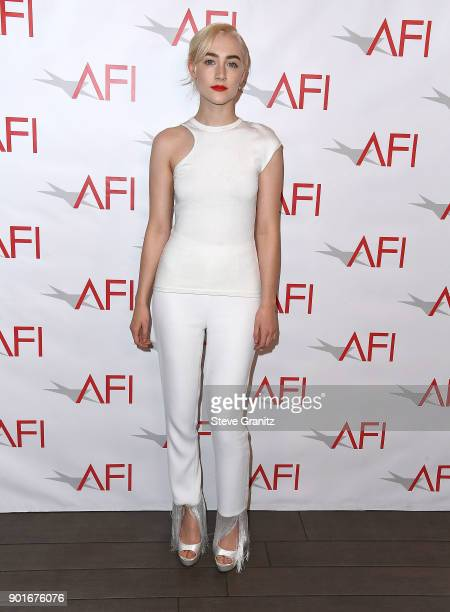 Saoirse Ronan arrives at the 18th Annual AFI Awards on January 5 2018 in Los Angeles California