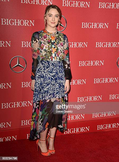 Saoirse Ronan arrives at the 27th Annual Palm Springs International Film Festival Awards Gala at Palm Springs Convention Center on January 2 2016 in...
