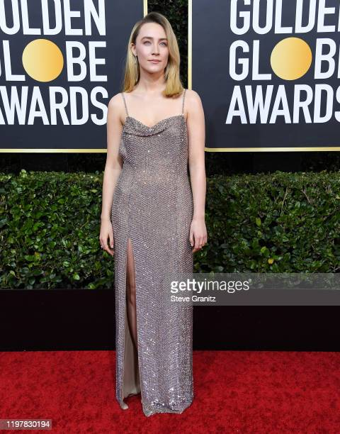Saoirse Ronan arrives at the 77th Annual Golden Globe Awards attends the 77th Annual Golden Globe Awards at The Beverly Hilton Hotel on January 05,...