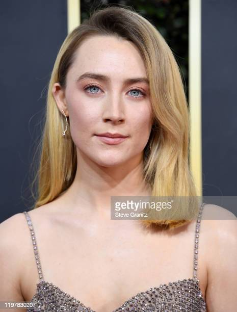 Saoirse Ronan arrives at the 77th Annual Golden Globe Awards attends the 77th Annual Golden Globe Awards at The Beverly Hilton Hotel on January 05...