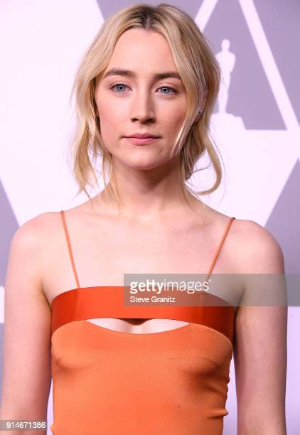 Saoirse Ronan arrives at the 90th Annual Academy Awards Nominee Luncheon at The Beverly Hilton Hotel on February 5 2018 in Beverly Hills California