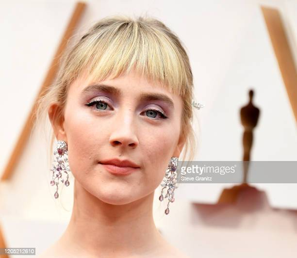 Saoirse Ronan arrives at the 92nd Annual Academy Awards at Hollywood and Highland on February 09 2020 in Hollywood California