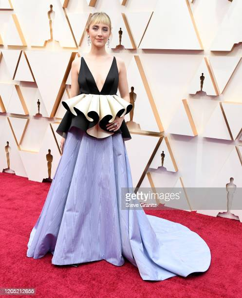 Saoirse Ronan arrives at the 92nd Annual Academy Awards at Hollywood and Highland on February 09, 2020 in Hollywood, California.