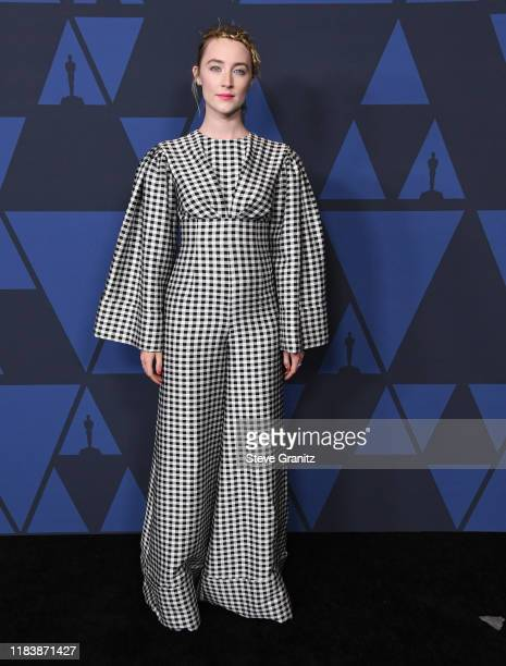 Saoirse Ronan arrives at the Academy Of Motion Picture Arts And Sciences' 11th Annual Governors Awards at The Ray Dolby Ballroom at Hollywood &...