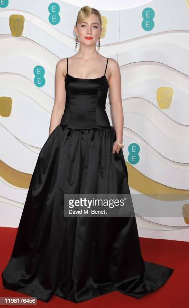 Saoirse Ronan arrives at the EE British Academy Film Awards 2020 at Royal Albert Hall on February 2, 2020 in London, England.