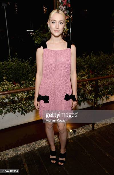 Saoirse Ronan at Moet Celebrates The 75th Anniversary of The Golden Globes Award Season at Catch LA on November 15 2017 in West Hollywood California