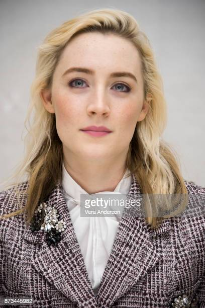 Saoirse Ronan at the Lady Bird Press Conference at the Four Seasons Hotel on November 9 2017 in Beverly Hills California